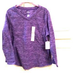 NWT.  Cute purple long-sleeve top.  Size PL